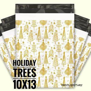 Polymailers 10x13 Gold Tree Holiday 80ct